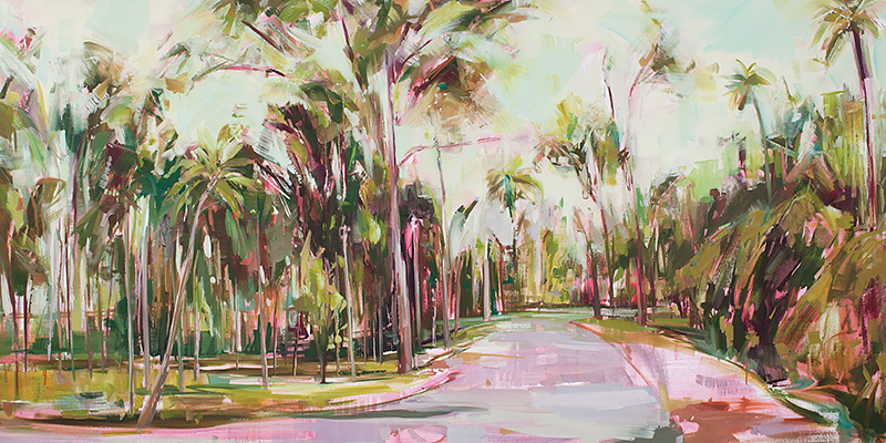 Path Through The Jungle Oil on canvas 78.7 x 39.3 in. (200 x 100 cm) KHA0011 ENQUIRE ABOUT THIS WORK