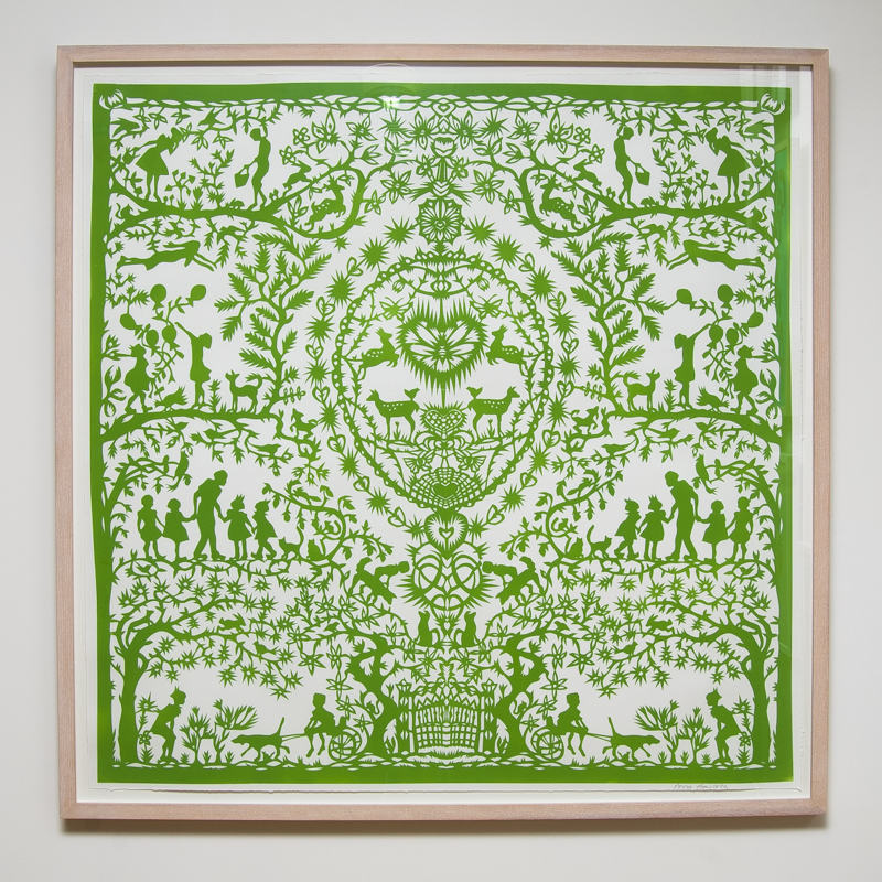 Spring Paper Cut (Framed) 40.5 x 40.5 in. (103 x 103 cm) AHO0006  ENQUIRE ABOUT THIS WORK