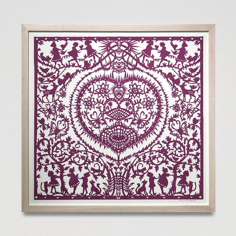 Secret Garden Paper Cut (Framed) 23 x 22.2 in. (58.5 x 56.5 cm) AHO0033 ENQUIRE ABOUT THIS WORK