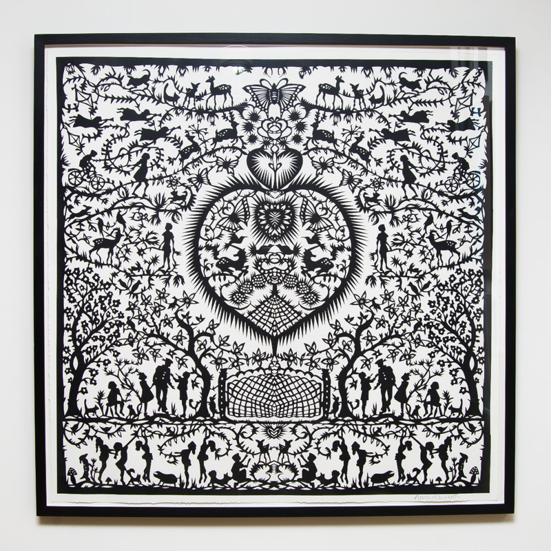 Heartland Paper Cut (Framed) 40.5 x 40.5 in. (100 x 100 cm) AHO0044 ENQUIRE ABOUT THIS WORK