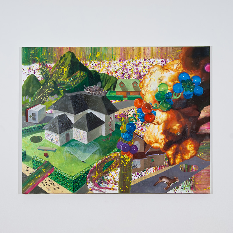 Fragmented Town (grey house), 2014