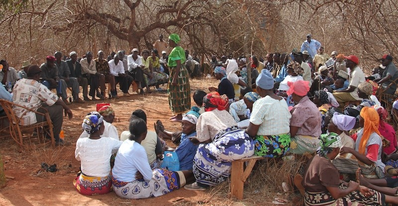 The women having their say at a Kamungi Conservancy 'baraza'