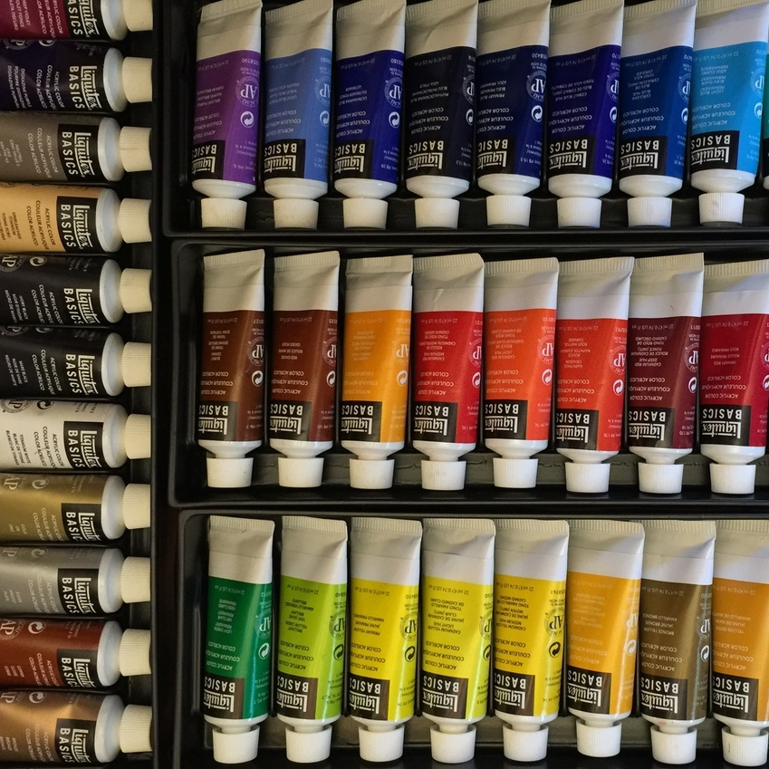 Awesome 58 color Liquitex  boxed set.