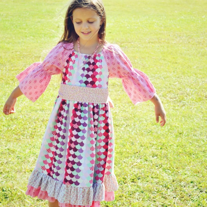 My girls in their Create Kids Couture dresses — SewCanShe | Free ...