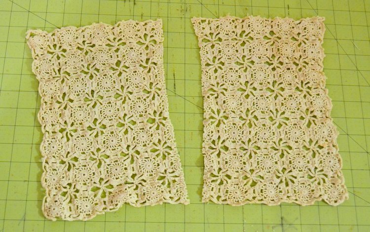 Holiday scarves with vintage crochet sewcanshe free sewing so in order to make my quick no knitting or crochet required version find one or more antique doilies that will work for the ends dt1010fo