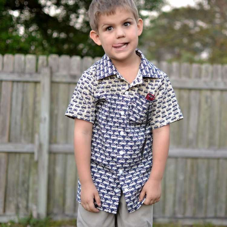 The Every Day Camp Shirt on my Every Day Boy — SewCanShe | Free ...