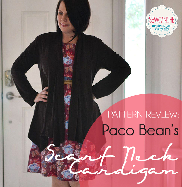 Free Scarf Neck Cardigan Pattern {I feel gorgeous!} — SewCanShe ...
