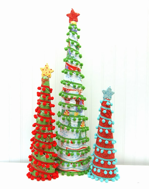 Pom Pom Christmas Trees by Jennifer Jangles