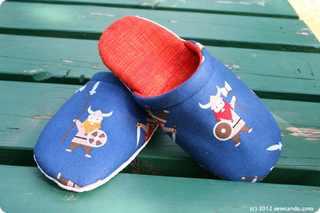 Slip on Slippers Free Sewing Pattern from SewCanDo