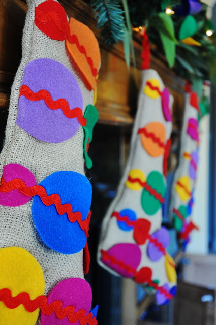 Polka dot holiday stockings from Living With Punks