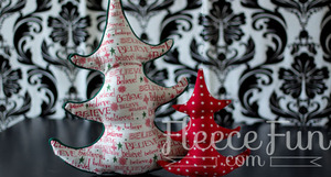 Fabric Christmas Tree Pattern from Fleece Fun