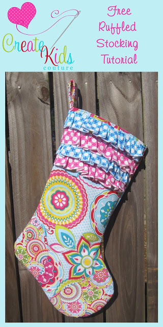 Ruffled Christmas Stocking pattern from Create Kids Couture