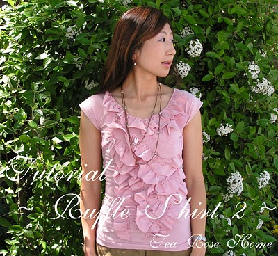 Ruffle Shirt from Tea Rose Home