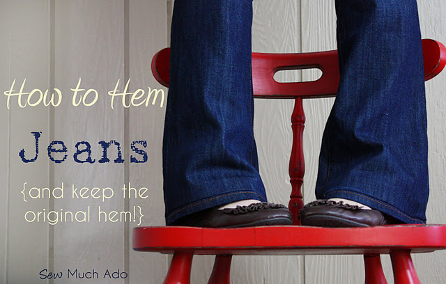 How to Hem Jean Tutorial