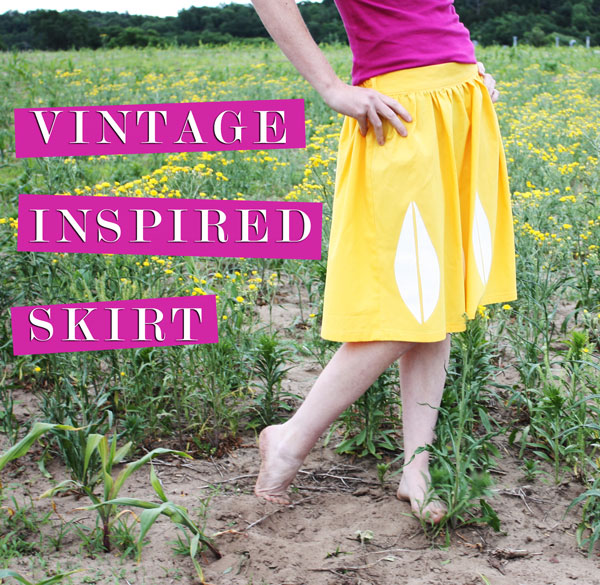 Noodlehead Vintage Inspired Skirt Tutorial