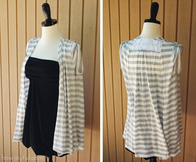 How Joyful T-shirt to vest upcycle