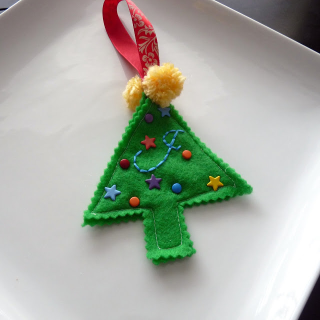 Felt Ornament tutorial from Ko-Jo Designs