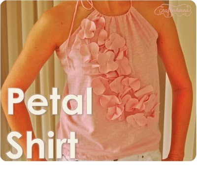 Petal Shirt Tutorial by Crafterhours