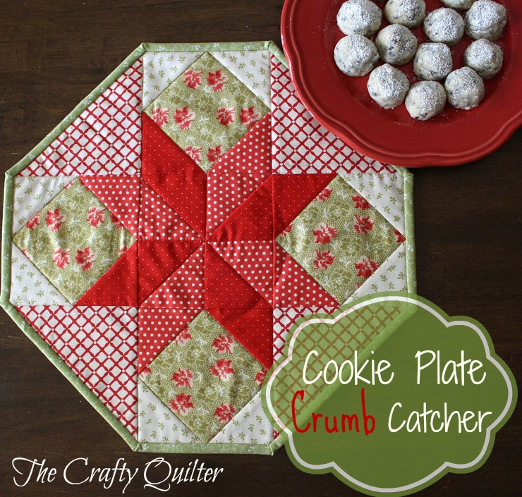 The Crafty Quilter's Cookie Plate Crumb Catcher