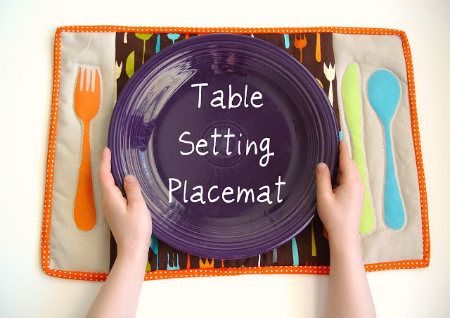 Table Setting Placemat by Pumpkin Patterns
