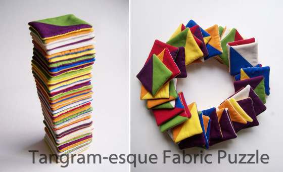 Tangram-esque Fabric Puzzle by Beauty All around