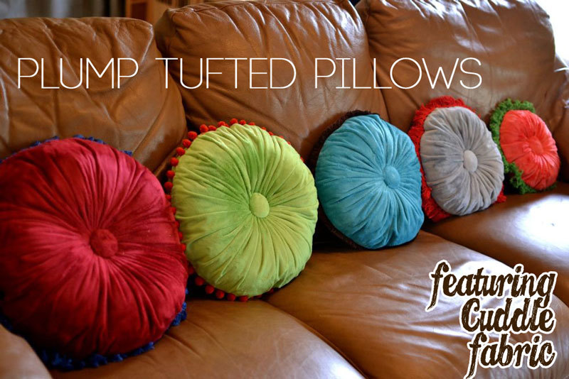 Plump Tufted Pillows Tutorial featuring Cuddle fabric ? SewCanShe Free Daily Sewing Tutorials