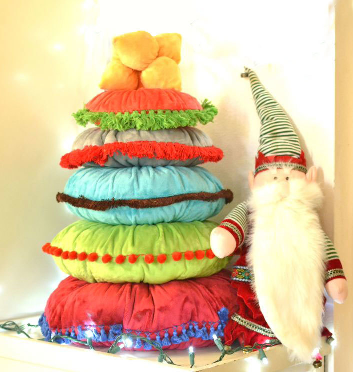 Pillow Pile Christmas Tree