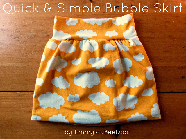 Quick and Simple Bubble Skirt by EmmylouBeeDoo