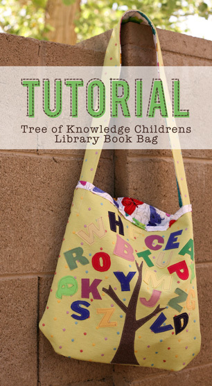Children's Library Book Bag by Pile of Fabric