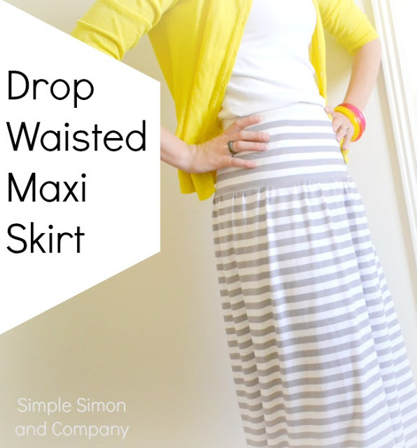 Simple Simon & Co Drop Waisted Maxi Skirt