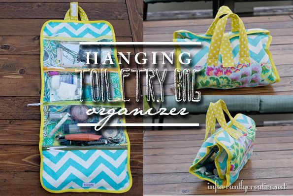 Hanging Toiletry Bag Organizer from infarrantly creative