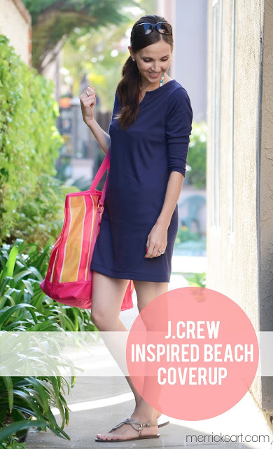 J.Crew Inspired Beach Coverup (Tutorial)  from Merricks Art