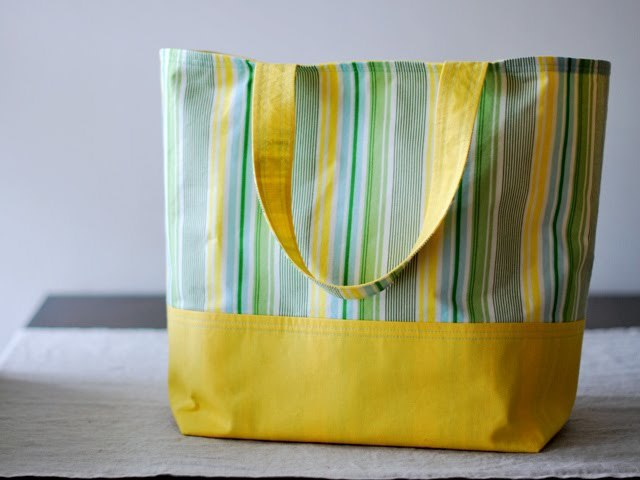 the market tote tutorial from Bijou Lovely