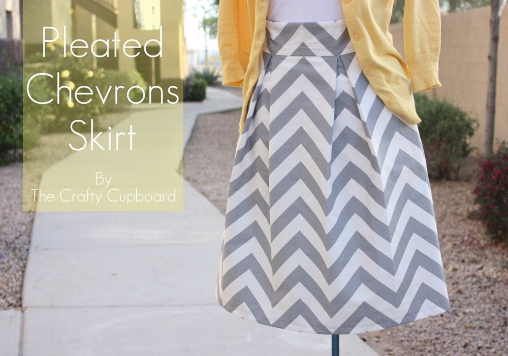 Pleated Cheverons Skirt from the Crafty Cupboards