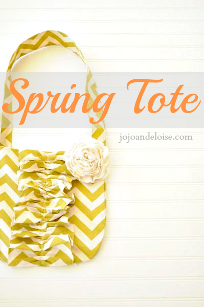 Spring Cheveron Tote from Jojo and Eloise