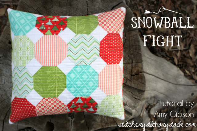Snowball Fight Pillow from Stichery Dickery Dock