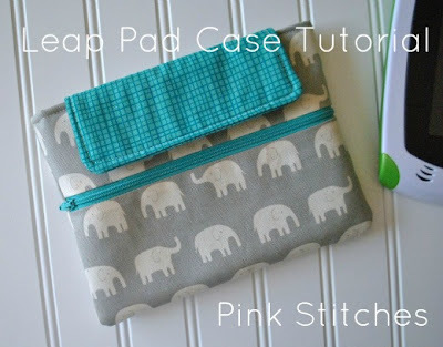 Leap Pad Case Tutorial by Pink Stitches