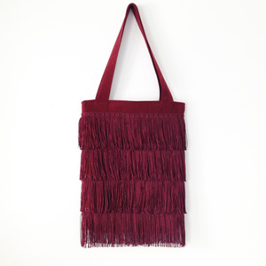 DIY Fringe Tote Bag by Anna Evers