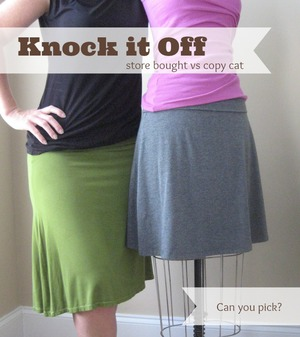 Knock Off your favorite skirt by the Sewing Loft