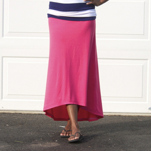 high low maxi skirt tutorial from Zaaberry