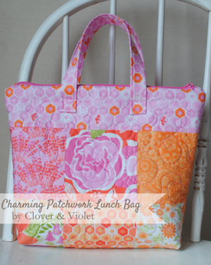 Patchwork Lunchbag Tutorial from Clover and Violet