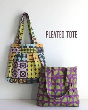 Pleated Tote Pattern from The Long Thread