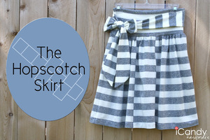 The Hopskotch Skirt Pattern from iCandy Handmade
