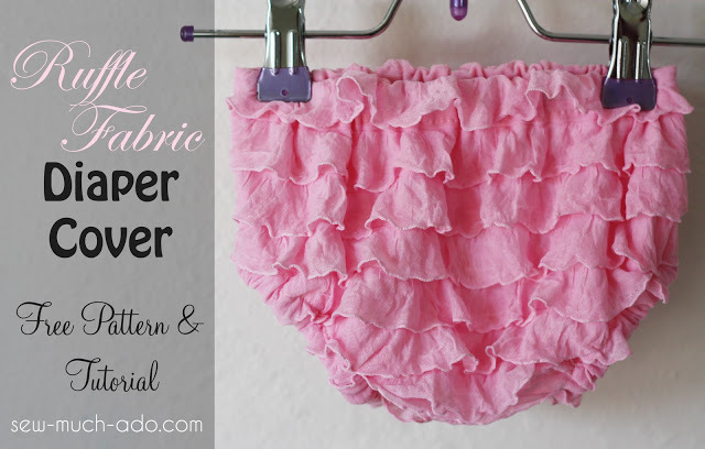 Ruffle Fabric Diaper Cover by Sea Much Ado