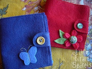 felt needle book from little birdie secrets
