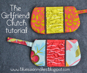 The Girlfriend Clutch Tutorial by Blue Susan Makes