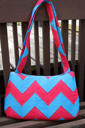 The Underwater Stripes bag from Sew Sweetness