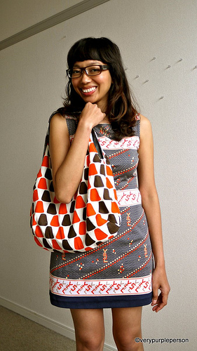 Reversible shopping bag by verypurpleperson