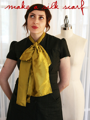 Silk Scarf Pattern from Colette