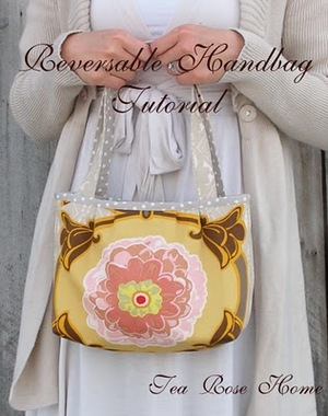 Reversible handbag from Tea Rose Home